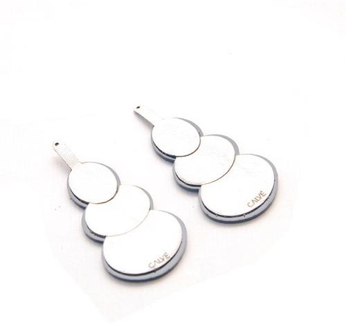 aros oval (blanco perlado)