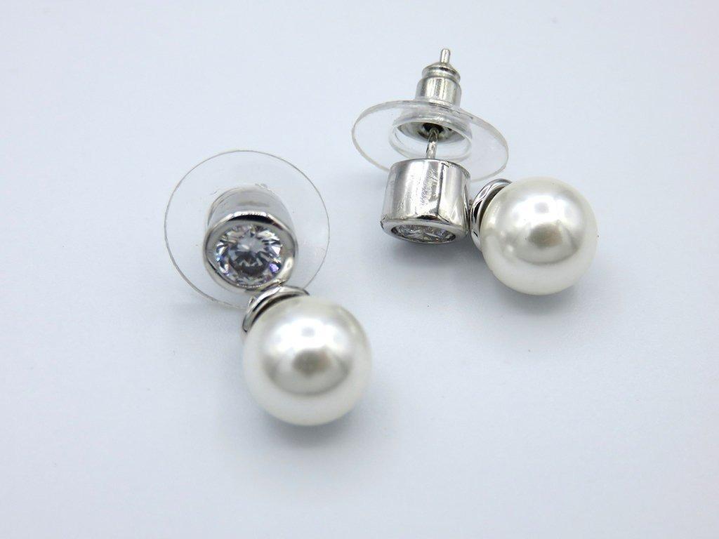 482e588ade5a aros perla de mallorca y circón colgante. Cargando zoom.