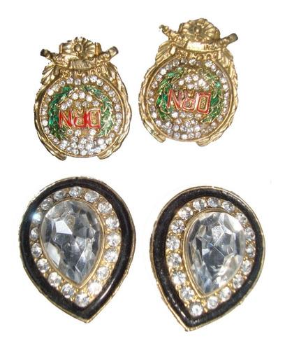 aros piedras strass bijouterie fina francesa e.gratis-cuotas