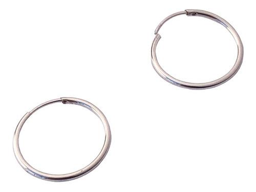 aros plata argollas cubanos 1,3 cm (nro 2)