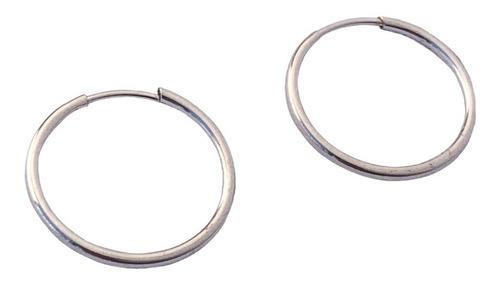 aros plata argollas cubanos 1,9 cm (nro 5)