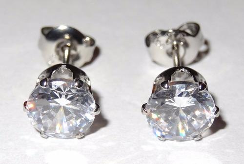 aros plata cristal joyas