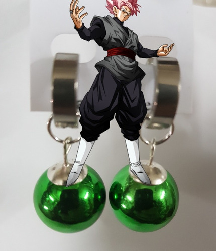 aros potaras premiun dragon ball z super black goku