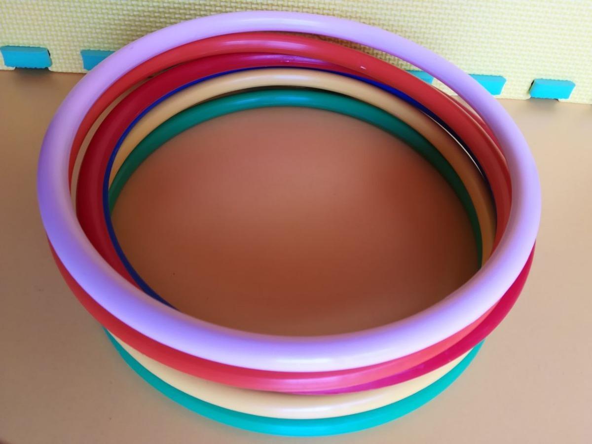 Aros Rítmicos De Plástico Rígido, 6 Pzs. Educación Física ...