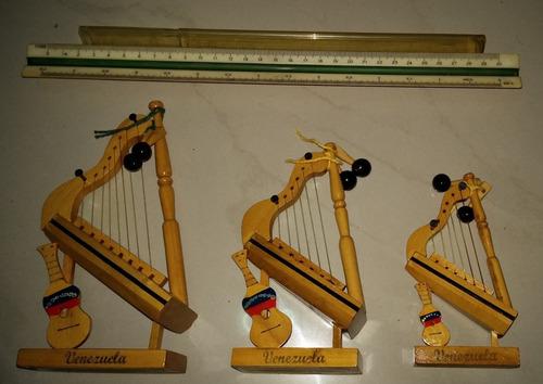 arpa cuatro y maraca peq. p-1 -2 -3 escolar artesania adorno