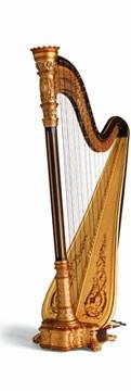 arpa de concierto lyon&healy estilo 23 bronce gran concierto