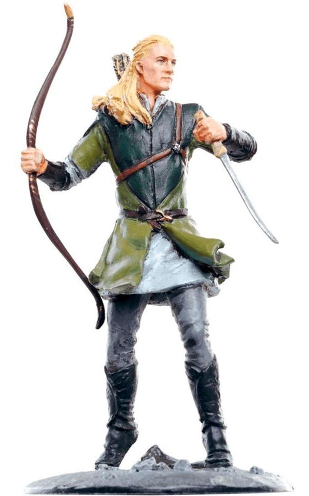 Arqueiro Legolas Miniatura Senhor Dos Anéis Metal 6 Cm