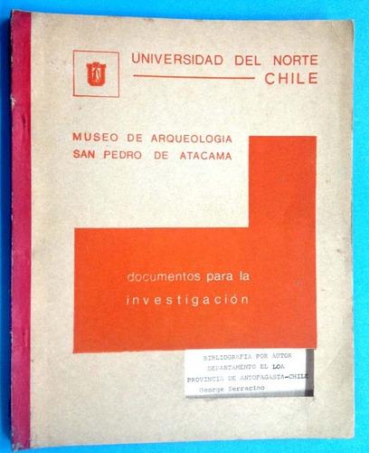arqueología - documentos para la investigación  g. serracino