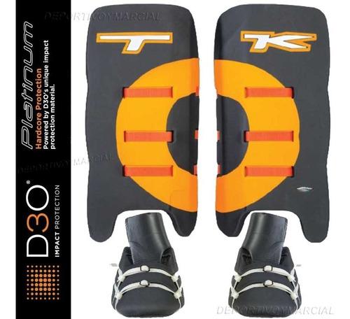 arquero tk p1 pads + kickers legguards hockey platinum prof