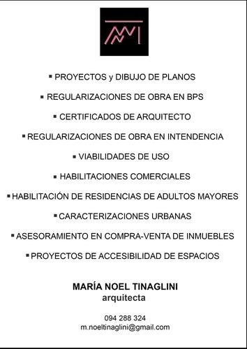 arquitecta, caracterizaciones urbanas, regularizaciones bps