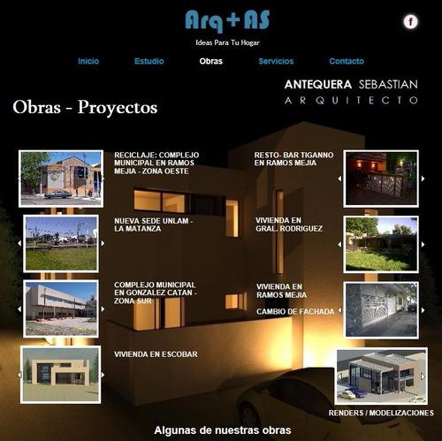 arquitecto - matriculado - diseño + obra nueva + refacciones