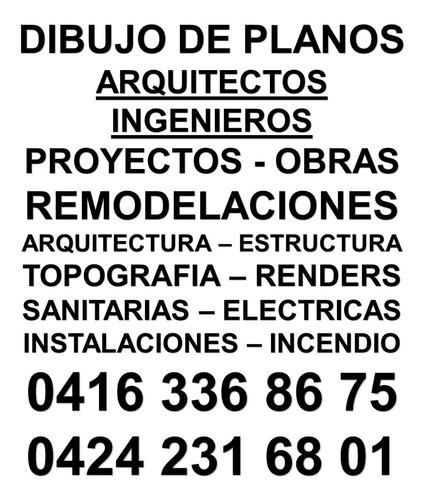arquitecto - planos  económicos - diseños - proyectos - ing