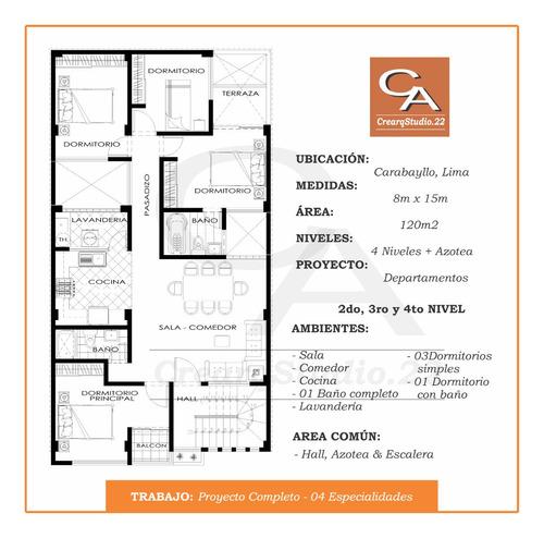 arquitectura e ingeniería (planos para obra y licencia)