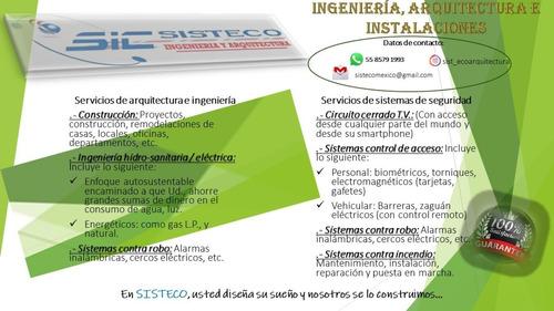 arquitectura ingeniería, instalaciones sistemas de seguridad