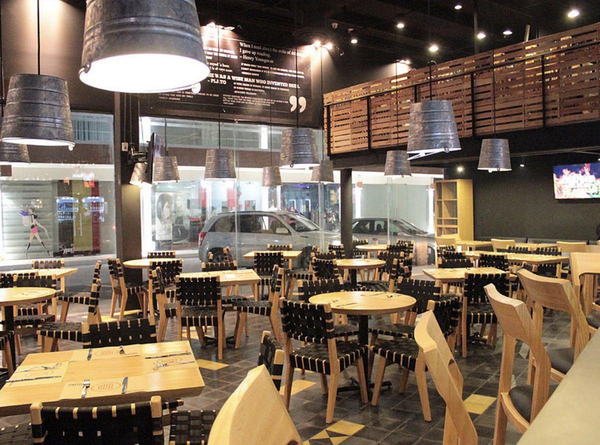 Arquitectura interior muros plafones tablaroca render 3d for Muebles para cafeteria precios