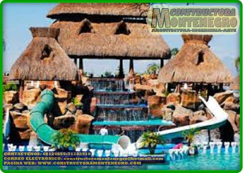 arquitectura y arte en la construcción de parques acuáticos