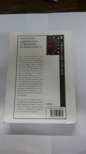 arquitectura y urbanismo en iberoamérica 4ta edicion ampliad