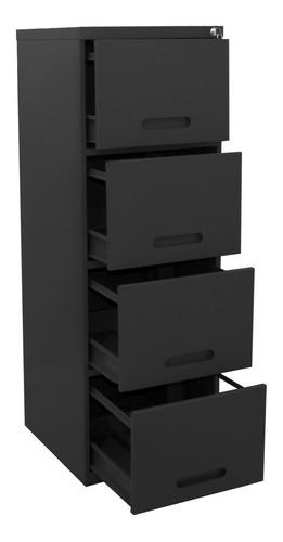 arquivo de aço 4 gavetas preto - ultra móveis