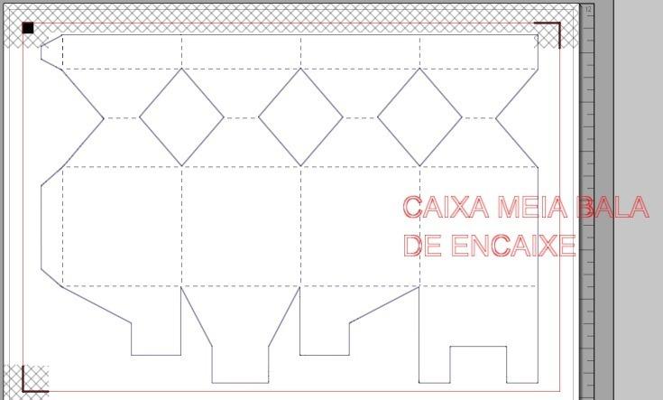 Arquivo De Corte Caixa Meia Bala Encaixe Limpa - R$ 11,99 ...