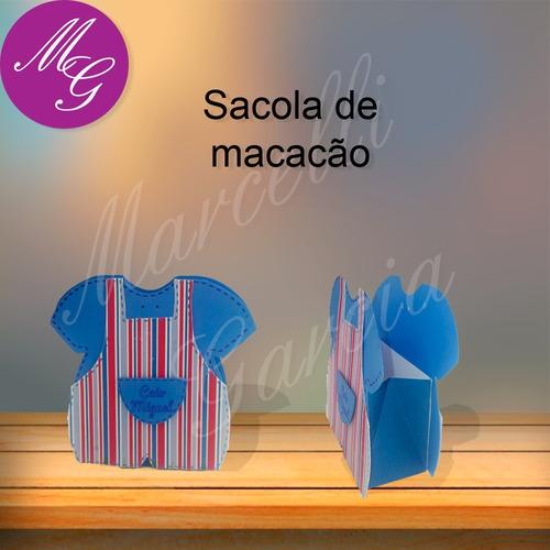 arquivo de corte para silhouette, sacola macacão de bebê