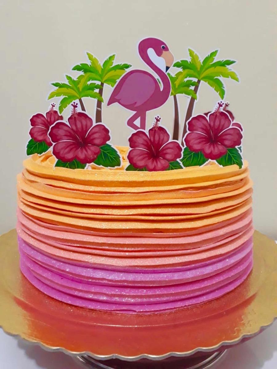 Arquivo Digital Topper De Bolo Flamingo Faça Em Casa R 1250 Em
