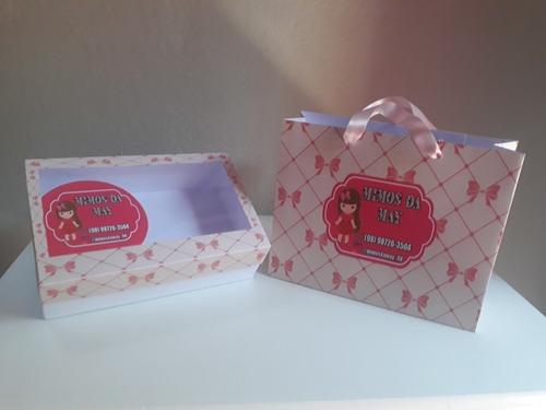 arquivo molde sacolas e caixas de papel personaliza
