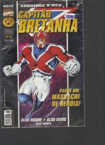 arquivos x-men-capitão bretanha n 1 - marvel-pandora books