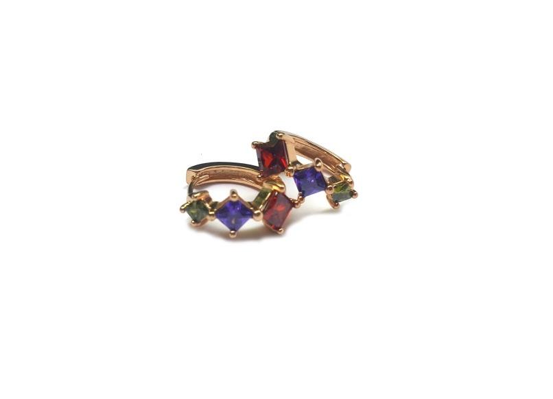 e4d7e575c80e Arracadas Aretes Argollas Colores Oro Laminado 14k -   389.00 en ...