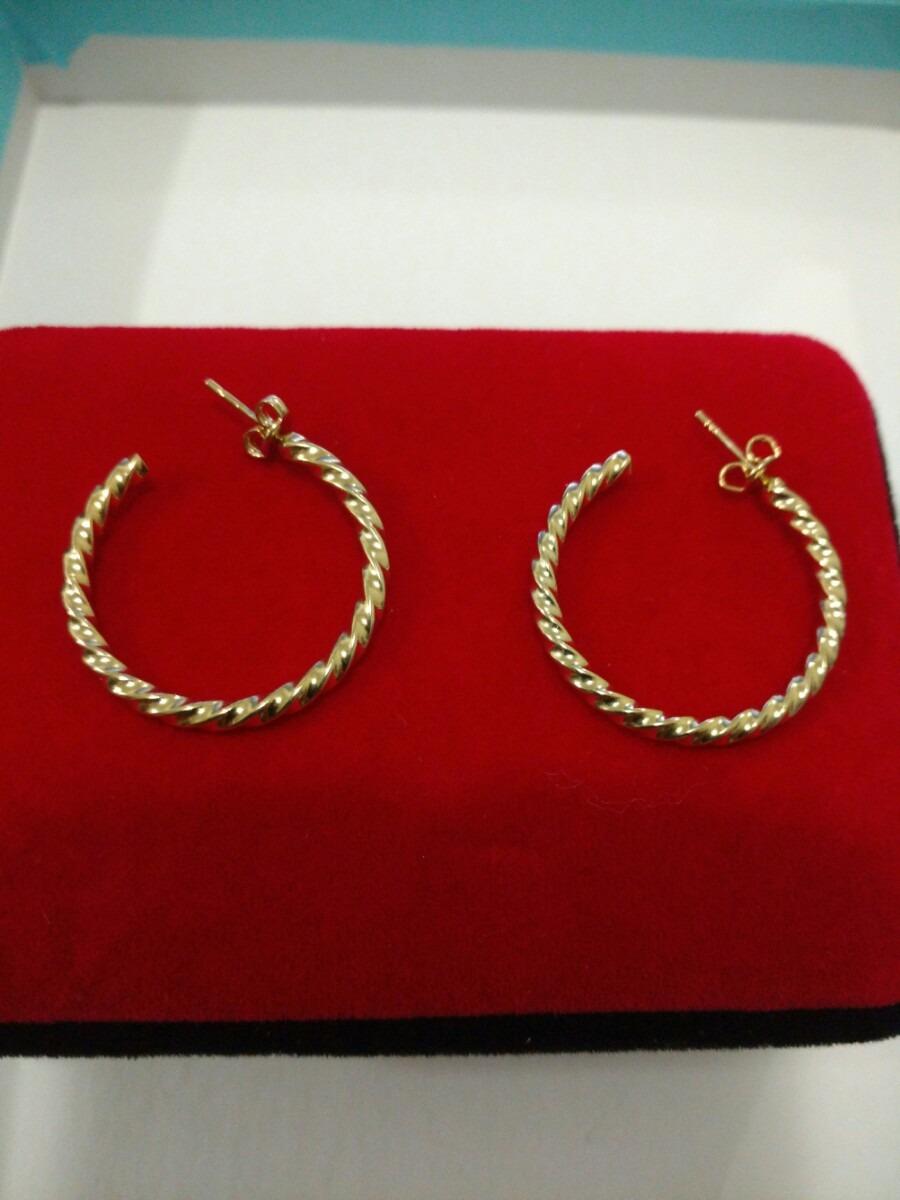 13391413a4fd Arracadas De 3 Cm Oro Laminado Envío Gratis -   280.00 en Mercado Libre