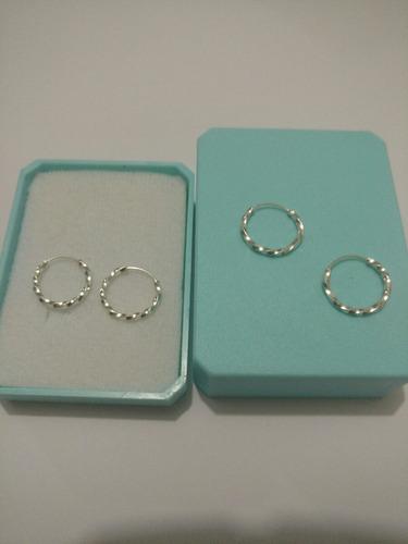 arracadas de plata torsal 1.4 cm envío gratis
