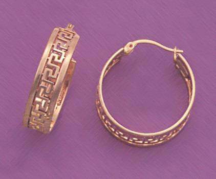arracadas estilo greco 14k oro aretes