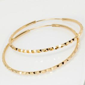 la mejor actitud 60681 cff8d Arracadas Grandes De Oro Lamin Elegantes Acabado Diamantado 5.5cm