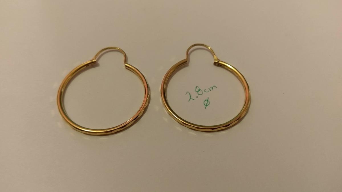 72185ddc898d arracadas oro de 2.8 cm de diametro estuche y envio gratis. Cargando zoom.