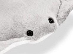 arraia de pelúcia cinza grande 113 cm lavável antialérgica
