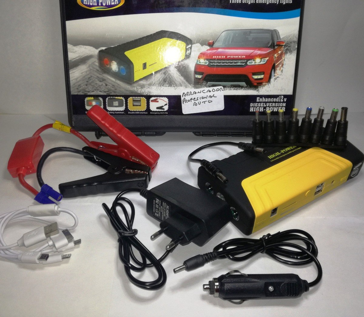 4b9f8a590 Arrancador Auto Cargador Bateria High Power - $ 4.500,00 en Mercado ...