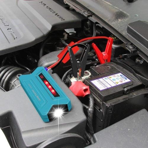 arrancador auto moto 12v batería portátil cargador usb y más