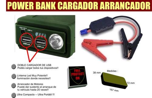 arrancador auto moto cargador celular  power bank
