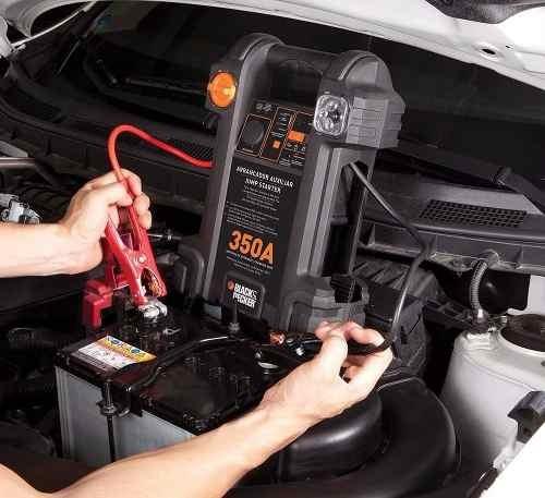 arrancador auxiliar con compresor para auto de 350a b&decker