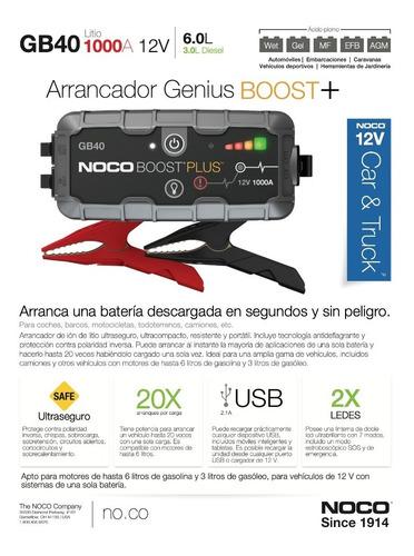 arrancador booster profesional bateria camioneta noco gb40