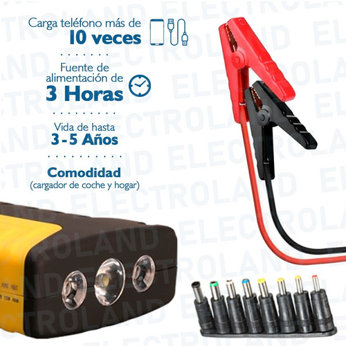arrancador cargador bateria portatil auto moto power bank