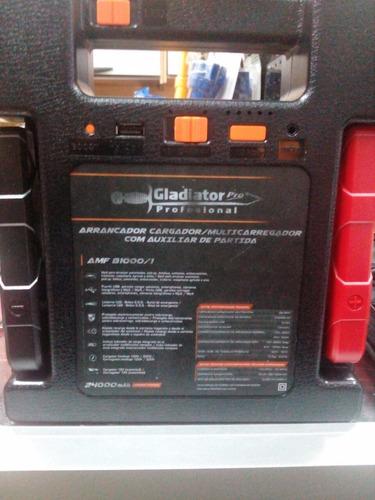 arrancador cargador con auxiliar de partida m. gladiator.