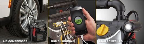 arrancador de bateria y compresor de aire stanley fatmax 700