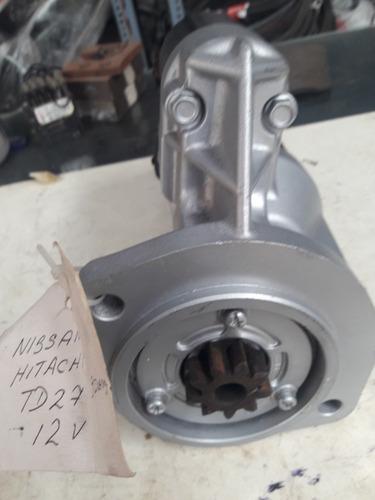 arrancador nissan  12volts  motor td27
