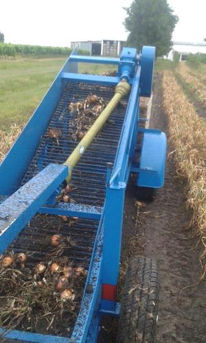 arrancadora recolectora cebolla papa boniato con bins