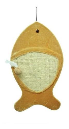 arranhador de parede p/ gato são pet em sisal com forma lúdica