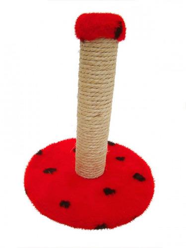 arranhador gato mini poste (ag16) vermelho