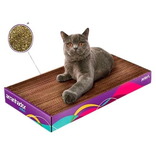 arranhador gato petlon papelao + catnip - promoção!