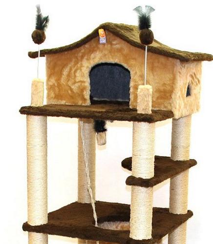 arranhador gigante castelo casa para gatos com rede e túnel