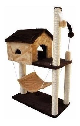 arranhador para gatos castelo modelo savana casa house pet