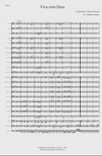 arranjo: acompanhamento para orquestra   viva com deus